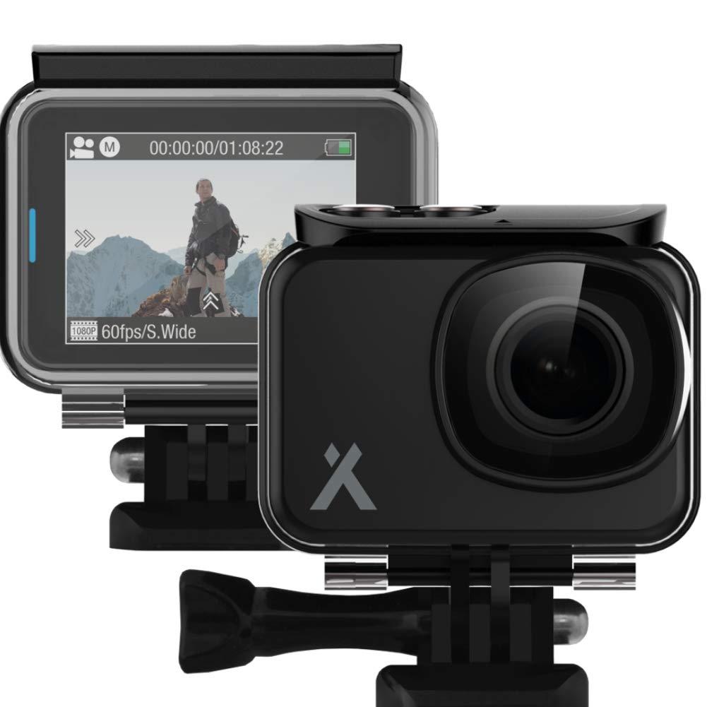 Bear Grylls wasserdichte Full HD Action-Kamera mit 2 Zoll Touchdisplay, 1080p @ 60fps, Bildstabilisierung und komplettem Zubehör