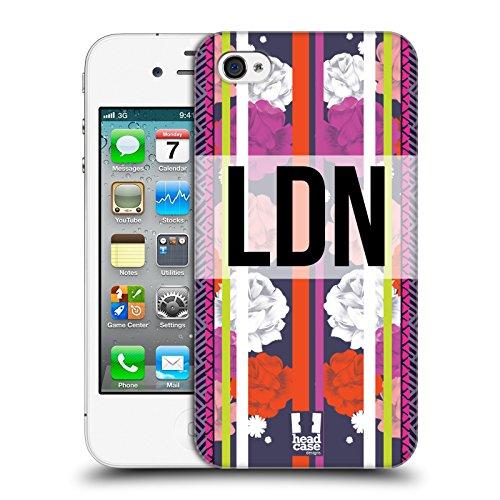 Head Case Designs Londra Città Della Moda Cover Retro Rigida per Apple iPhone 4 / 4S