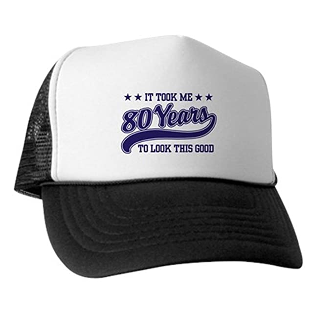 19435bcf3c5 Amazon.com  CafePress - Funny 80th Birthday Trucker Hat - Trucker ...