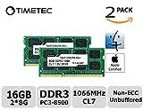 Image of Timetec Hynix IC Apple 16GB (2x8GB) 1066 MHz PC3-8500 204-Pin DDR3 Memory Kit for iMac 27-Inch Late 2009, Mac Mini Mid 2010 Server, Mac Mini Mid 2010 and MacBook Pro 13-Inch Mid 2010