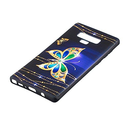 Herbests Etui Tpu Clear Transparent 9 Étui Silicone Mince Papillon Avec Note Housse Crystal Pour Soft ultra Galaxy Coque Motif rw5qSCr