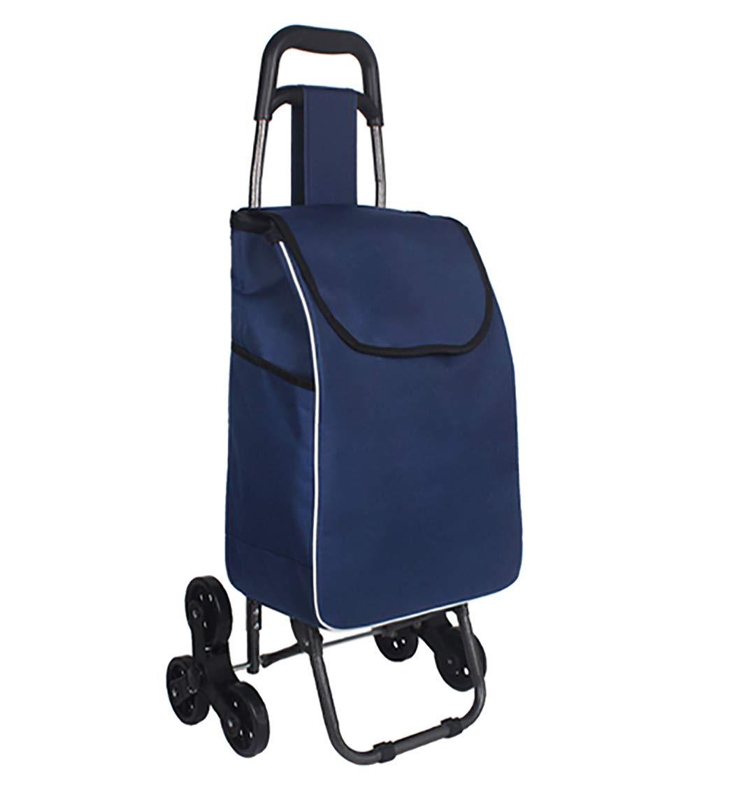 YGUOZ 折りたたみ ショッピングカート、4 輪 静音、大 ショッピングキャリー、取り外し可能なバッグ、ショッピングキャリーカート 軽量(40L),blue  blue B07MV73696