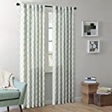 Best Home Back Tab Curtains - Modern Blue Curtains for Living Room, Nakita Print Review