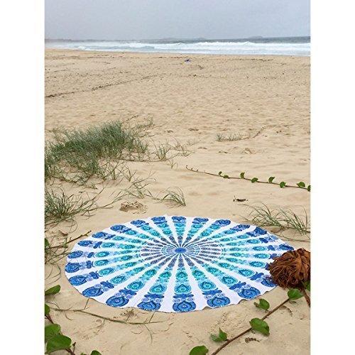 Nopea Pfau Mandala Tapisserie Pfau Mandala Rund Beach Tischdecke Strandtuch Hippie Indische Tapisserie b/öhmische Wand h/ängend K/önigin Bedspread