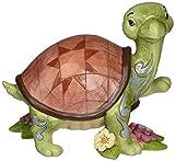 "Jim Shore Heartwood Creek Turtle with Flowers Stone Resin Figurine, 4"""