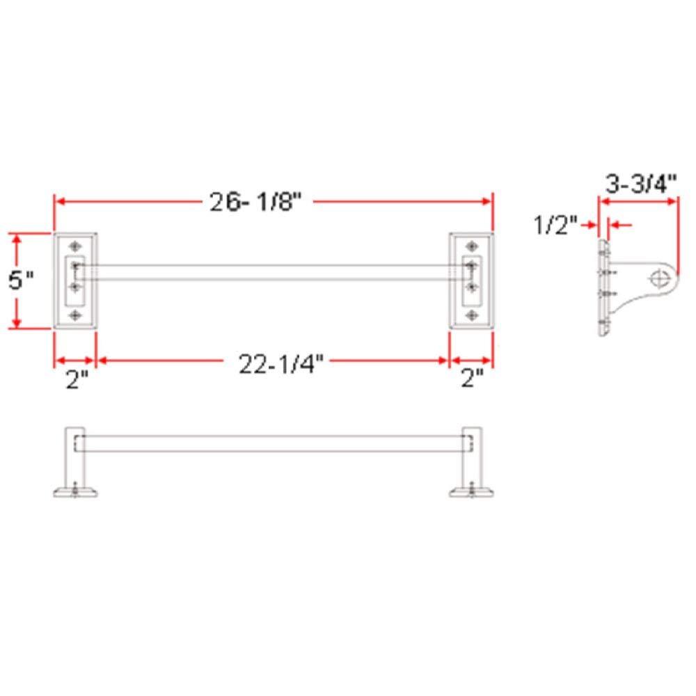 """Ldr Industries Ldr 165 9860 18/"""" Rustic Oak Towel Bar,No 165 9860 3PK"""