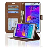 Navor Protective Flip Wallet Case for Samsung Galaxy Note 4 - (Brown) - Best Reviews Guide