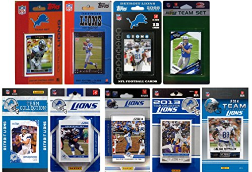 C&I Collectables NFL Detroit Lions Licensed Trading Card Team Set