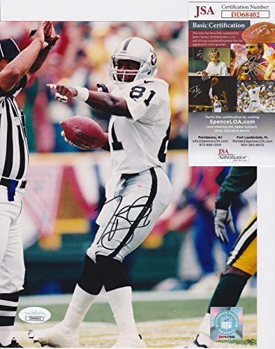 (Autographed Tim Brown Photo - #81 8x10 + COA DD68402 - JSA Certified - Autographed NFL Photos)
