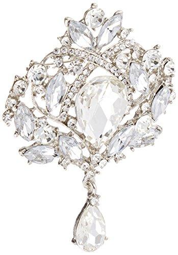 Unik Occasions 5H085 Rhinestone Crystal Brooch