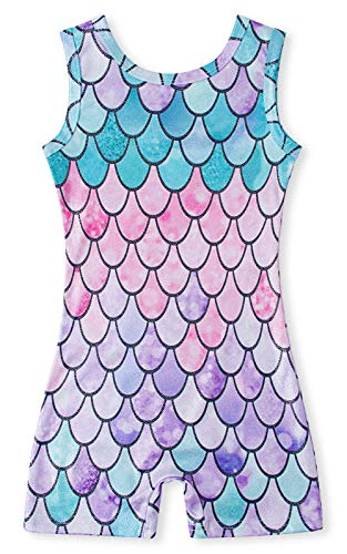 - Funnycokid Rainbow Leotards for Girls Gymnastics 4t 5t Mermaid Biketard Unitard Dance Clothes Clothing