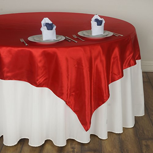 Delicieux BalsaCircle 90x90 Inch Red Satin Table Overlays   Wedding Reception Party  Catering Table Linens Decorations