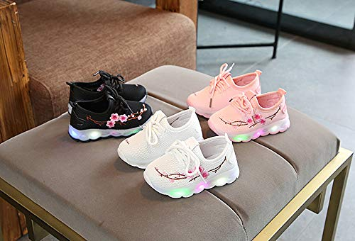 Bbsmile Luz Casual Led Niñas Unisex Zapatos Sneakers Botas Zapatillas Rosa Niño Child Fashion Bebe Invierno Luminous Star De Luces xCEwCSRqg