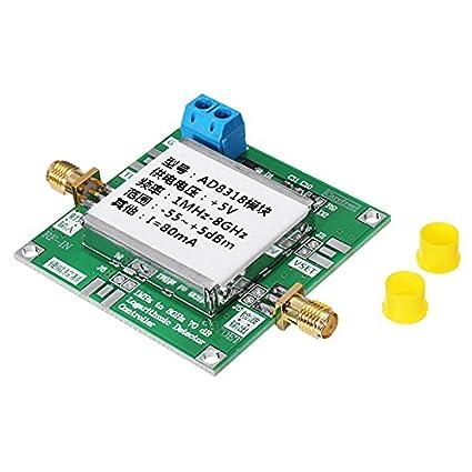 LaDicha Ad8318 1Mhz A 8Ghz 8000Mhz Detector De Potencia Detector De Corriente DC 5V para Amplificadores