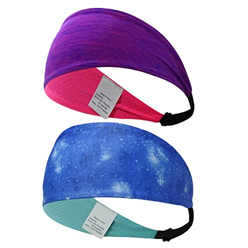 Ligart Hair Bands Moisture Wicking Sweatbands Dry Quickly Headbands Non Slip Head Bands Head Scarf Soft, Breathable and Stretchy for Yoga,Cycling,Running,Fitness Exercise and Other Sports Activities