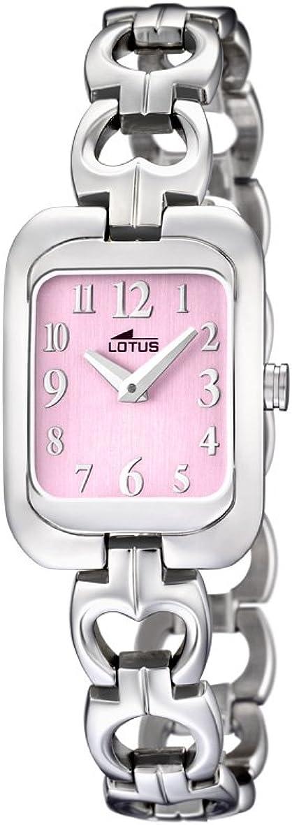 Lotus 15715/2 - Reloj analógico infantil de cuarzo con correa de acero inoxidable plateada - sumergible a 50 metros
