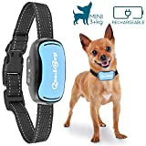 GoodBoy Small Dog Bark Collar for Tiny to Medium Dogs Rechargeable and Waterproof Vibrating Anti Bark Training Device That is Smallest & Most Safe On Amazon - No Shock No Spiky Prongs! (6+ lbs)