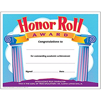 Amazon.com : Honor Roll Certificates and Award Seals Combo Pack ...