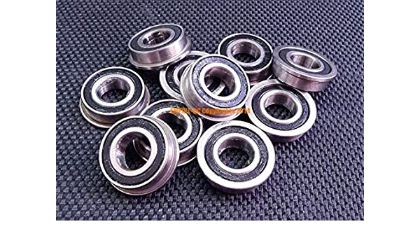 """FR3-2RS Flanged Rubber Sealed Ball Bearings 10 PCS 3//16/"""" x 1//2/"""" x 0.1960/"""""""