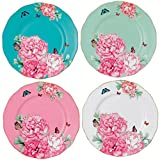 Royal Albert Friendship Accent Plate Designed by Miranda Kerr, 8-Inch, Set of 4