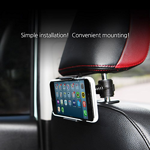Price comparison product image ABSL - MH 60 Baby Kids Car Backseat Headrest Mount Stand Snap-on Holder, 360 Degrees Rotation Android Samsung Galaxy LG HTC Blackberry Nokia Google Motorola