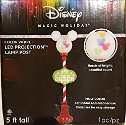 Disney Share The Cheer Christmas Lamp Post Sculpture with...