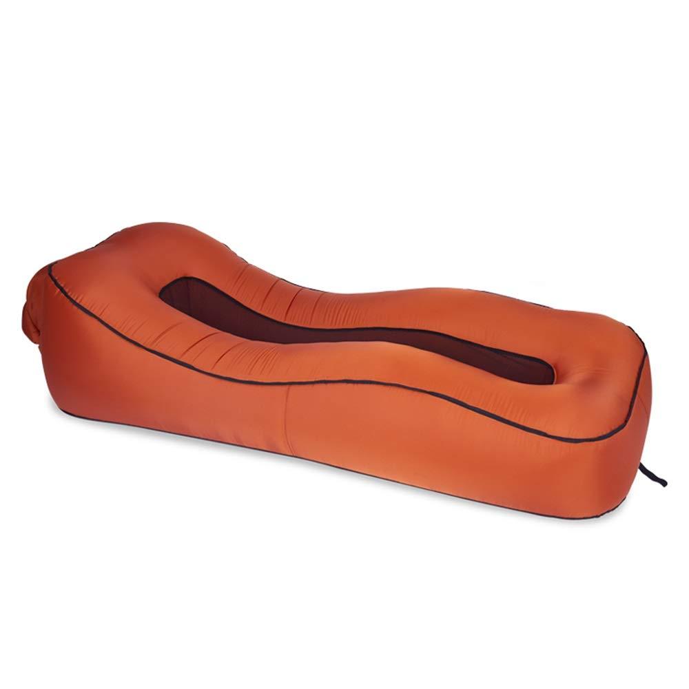 HongTeng Il Materasso Gonfiabile di Campeggio all'aperto della Spiaggia all'aperto del sofà del Letto Gonfiabile del sofà ha Piegato Il Portatile 190 × 80 × 50cm (Color : Brown) Prezzi offerte