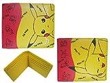 Pokemon Pikachu Bi-Fold Yellow/Red Wallet, Bags Central
