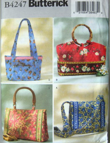Butterick Sewing Pattern B4247 Bags Totes in Four Styles by The McCall Pattern Co.