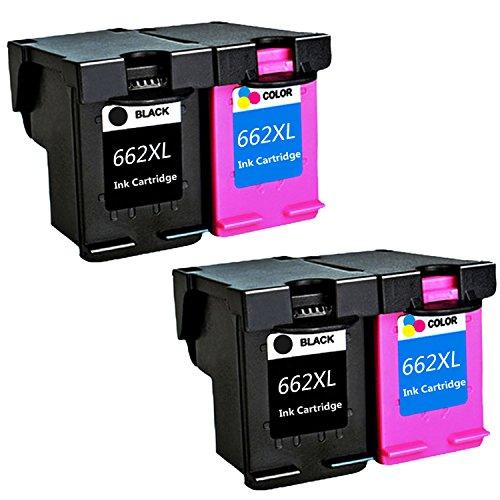 LOVEINK Remanufactured Ink Cartridge For HP 662XL Deskjet Ink Advantage 2515 2545 2645 Printer 4 ()