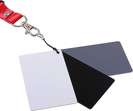 Enfoque tarjeta gris Digital de balance de blancos Set y cordón