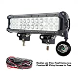 Liteway 12Inch 120W 12000LM CREE LED Light Bar Spot Flood Combo Work Light Waterproof Truck Offroad 4WD SUV ATV Driving Lamp 1 Year Warranty