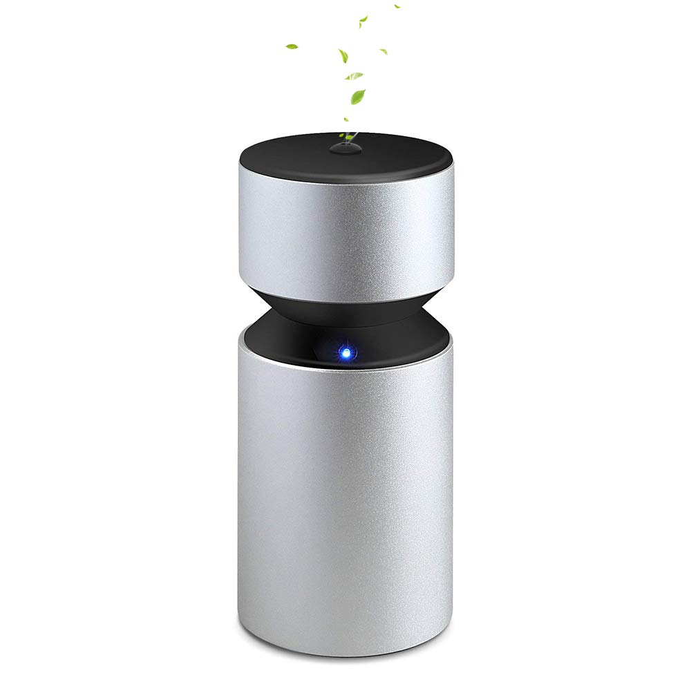 Pure Essential Oil Diffuser Wireless &Waterless, USB Battery Operated Portable Aroma Nebulizer 4000mAh Built in Rechargeable 2ml for Home Party Car Office Travel Yoga Spa