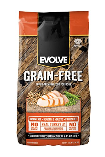 Evolve Grain Free 14lb Deboned Turkey, Garbanzo Bean, & Pea Recipe Dog Food