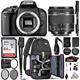 Canon EOS Rebel T7i DSLR Camera with 18-55mm is STM Lens w/Advanced Photo & Travel Bundle – Includes: Altura Photo Backpack, SanDisk 64gb SD Card, Monopod, Filter Kit, Neck Strap and Cleaning Kit For Sale