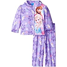 Disney Little Girls' Frozen Sisters Olaf 2-Piece Pajama Coat Set