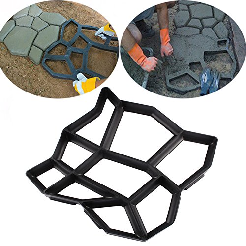 Garden Pavement Mold Garden Walk Pavement Concrete Mould DIY Manually Paving Cement Brick Stone Road Concrete Molds Pathmate Moulds (Patio And Brick Concrete Ideas)