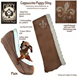 Puppy Sling, Large/Xlarge (Cappucino with ivory trim, fleur de lis)
