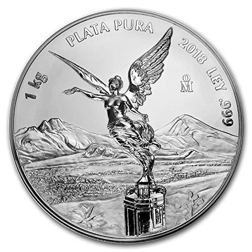 (2018 MX Mexico 1 kilo Silver Libertad Proof Like (w/Box & COA) Silver Brilliant Uncirculated)