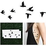Tattify Birds Temporary Tattoo - Flock Yeah (Set of 2)
