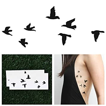 481be1bdc7013 Amazon.com : Tattify Birds Temporary Tattoo - Flock Yeah (Set of 2) - Other  Styles Available - Fashionable Temporary Tattoos : Temporary Tattoos Small  Birds ...