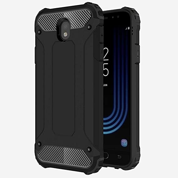 pretty nice dc324 68aad TheGiftKart Samsung J7 Pro Back Case Cover: Special Edition Neo-Hybrid Dual  Layer Armor Back Cover (Metallic Black)