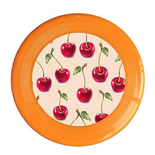 Frisbee Cherry Pattern Pet's Safe Plastic Frisbee Flying Saucer Flying Disc Sport Disc Fun Flyer - Mall Creek Cherry