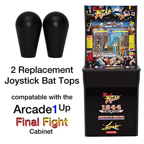 RetroArcade.us ra-js-topball-1up-kit-2 arcade1up Final Fight, Rampage, Jamma, mame, 2 Joystick bat top Handles, New