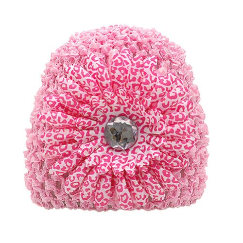 Trendy Cute Pink Floral Infant Toddler Girls Hat