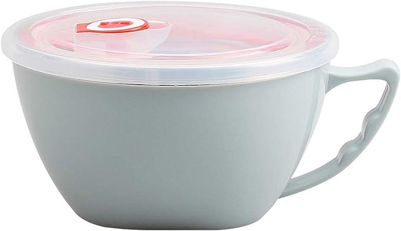 SELUXU Soupe de Nouilles instantan/ées isol/ées en Acier Inoxydable Bol de Riz /à Lunch avec r/écipient pour p/âtes Alimentaires avec Couvercle