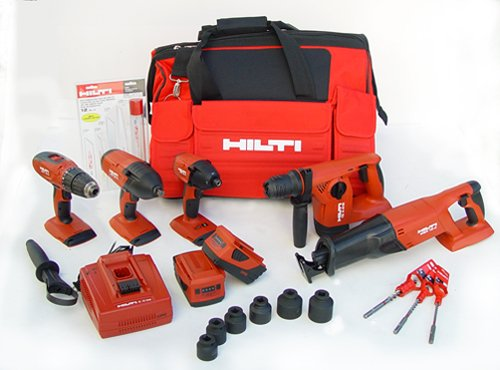 Hilti 03482676 18-Volt Cordless Combination Package, Includes 5 Tools