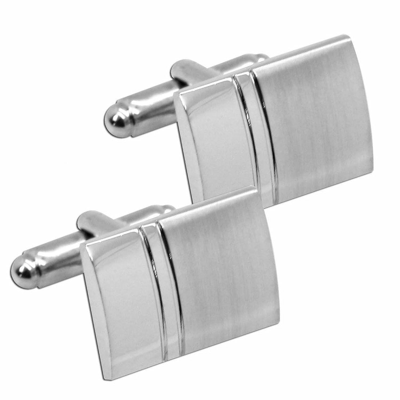 2 elegantes gemelos plata de acero inoxidable para traje boda trabajo camisa