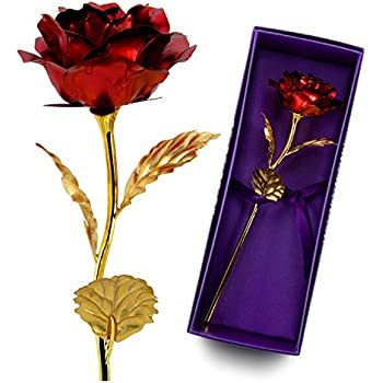 Amazon preserved flower rose unique gift idea for women her unitestone gifts for women for whom you loved pretty red rose as gifts for her nice negle Choice Image