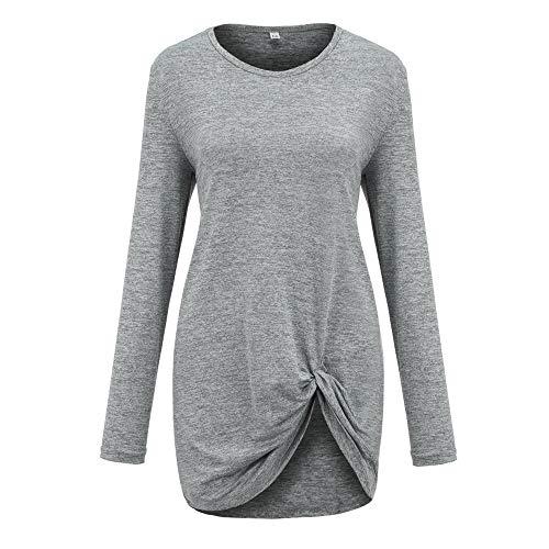 Haut Manches en Automne Femme O col Gris kingwo Manches en T Longues dcontract Longues Shirt qF7nRpwz